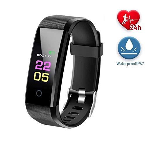Reloj Inteligent 5ATM Impermeable Smartwatch con Cronómetro Pulsera Actividad para Deporte de Fitness con Podómetro Smartwatch Mujer Hombre niños para iOS y Android
