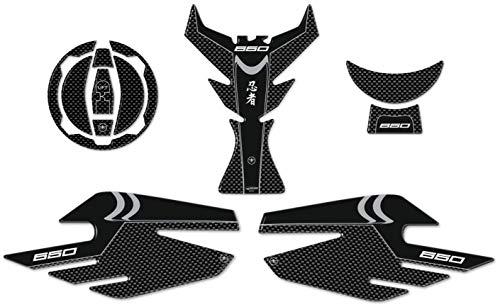 color blanco GZYF Par de pegatinas antideslizantes para tanque de moto para Kawasaki Ninja ZX6R 2007-2008