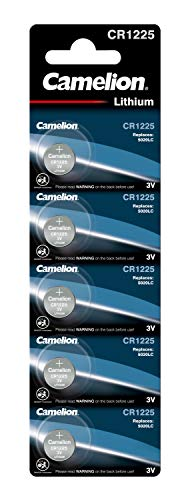 Camelion knoopcellen CR1225 in 5-pack voor horloges rekenmachines etc.