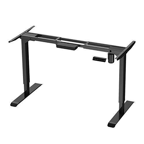 AIMEZO Electric Stand Up Desk Workstation Single Motor Height Adjustable Standing Desk Motorized Sit Stand Desk Base