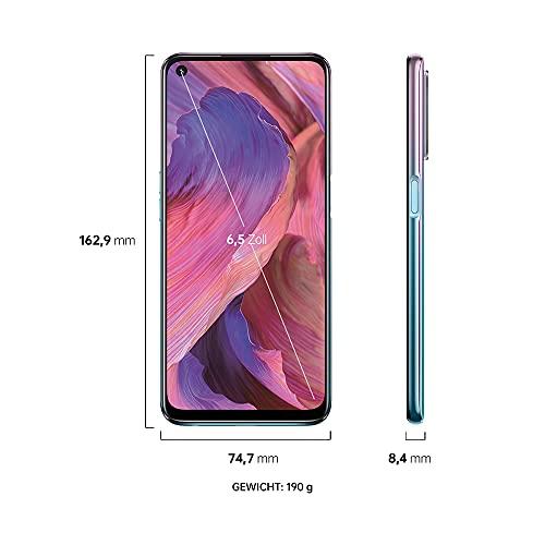 OPPO A54 5G Smartphone, 48 MP KI-Vierfachkamera mit Ultra Nacht Video, 6,5 Zoll 90 Hz FHD+ Neo-Display, 5.000 mAh Akku, 5G-Prozessor, 64 GB Speicher, 4 GB RAM, ColorOS 11.1, Dual-SIM, Fantastic Purple - 7