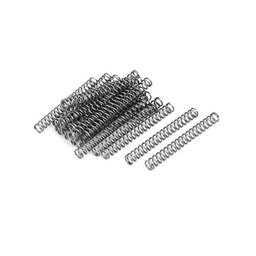 sourcingmap 20 Stück 0.6mmx5mmx45mm 304 Edelstahl Druckfedern Silber de