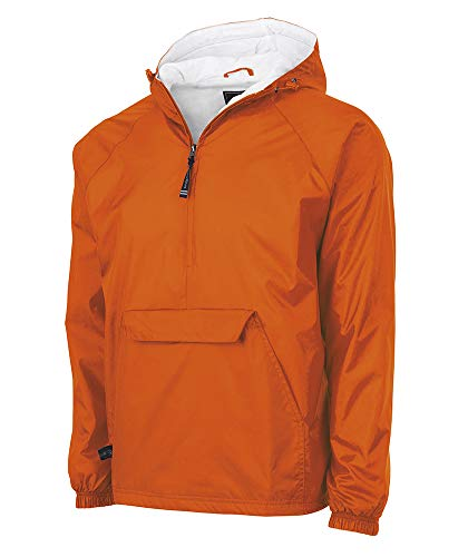 Charles River Apparel Wind & Water-Resistant Pullover Rain Jacket (Reg/Ext Sizes), Orange, XXL