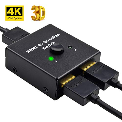 Switch HDMI Bidireccional la Entrada 2 a 1 Salida o Switch 1