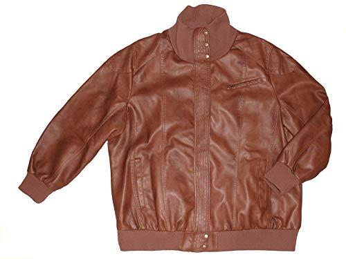 Janina Damenjacke Jacke Lederimitation Kunstleder Übergangsjacke Übergröße 56-58, Größe: 58