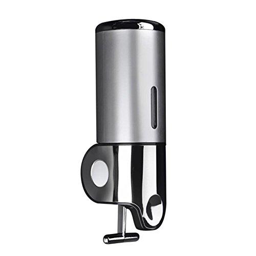 RuiDay Dispensador de jabón montado en la pared, dispensador manual para champú, gel de ducha o loción (plata)