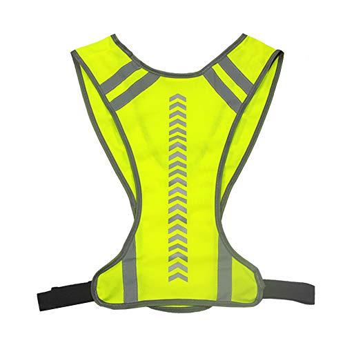 Afaneep Chaleco Reflectante Alta Visibilidad Elástica Ajustable Ligero Chaleco para Deportes al Aire Libre, Correr, Caminar, Trotar, Andar en Bicicleta