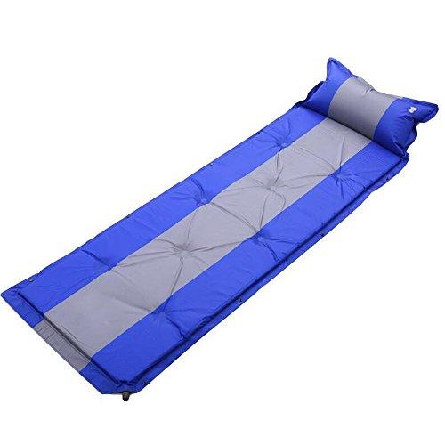 XY&CF Automatische aufblasbare Isomatte-kampierende Rollen-Matratzen-Matratze mit Kissen Kompakter tragbarer Rucksack im Freien, der Zelt wandert (Farbe : E)