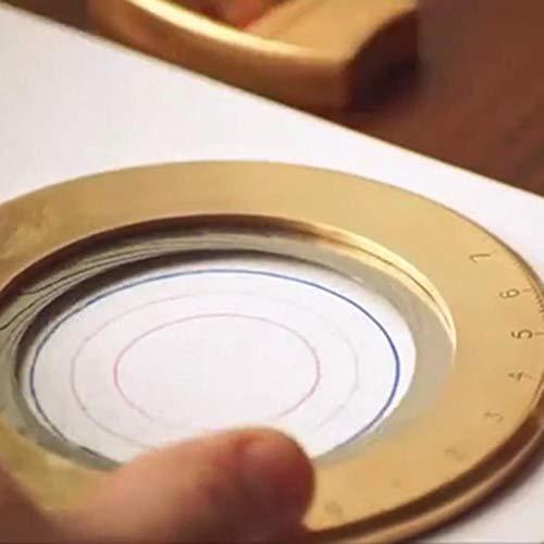 Desirabely Herramienta De Dibujo Circular Pequeñas Herramientas Ajustables Para Entusiastas La Carpintería Diseño Regla Metálica Curvada Mini Brújula Transportador Patrones Combinados Diseñadores