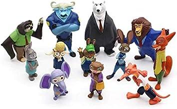 Coleção Zootopia 12 Personagens + Chaveiro - 7cm