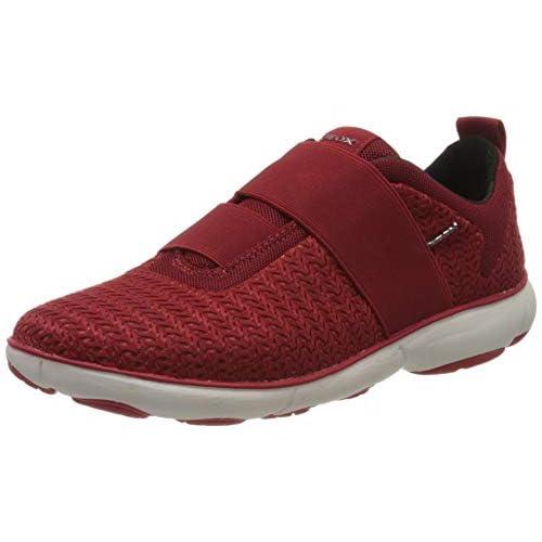 Geox D Nebula B, Sneaker Infilare Donna, Rosso (Red C7000), 35 EU