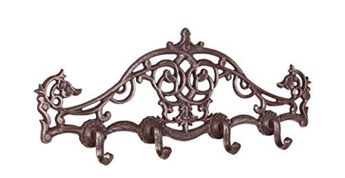4 haken Moritz nostalgie kleine kapstok antiek design haak rail barokversieringen