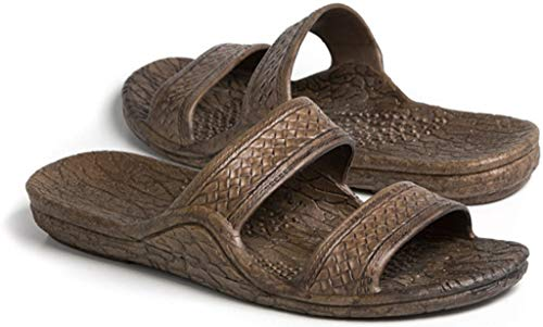 Pali Hawaii Unisex Adult Classic Jandal Sandal (Dark Brown, 8)