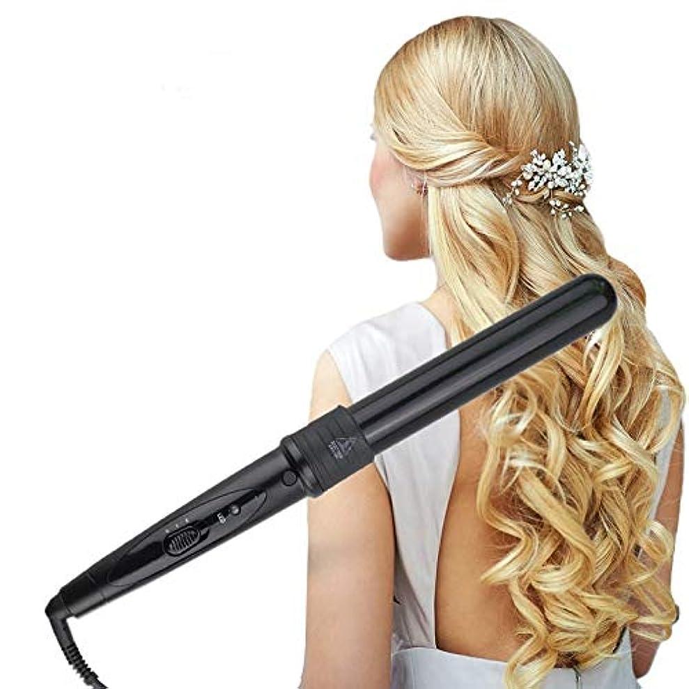 覗くポーク起点GUANG Hair Curlers コテ,ヘアビューロン,コードレス ヘアアイロン 【 2019 フォーインワンカーリングアイロンはヘッド速度の熱いカーリングの棒を変えることができます キャップ付き持ち運び便利家庭用旅行用ヘアアイロン男女適用 タル温度表示