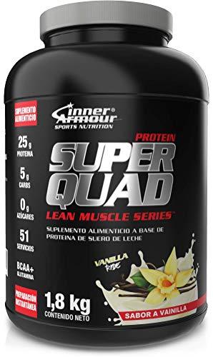 INNER ARMOUR Proteina Whey + Isolate 4 lb - 25 g de Proteina Aislada De Suero | Nuevo Sabor a Vainilla | Bebida Pre y Post Entrenamiento | BCAAs | Preparación Instantánea | 52 Servicios x Envase