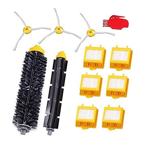 WUYANZI Accesorios para Piezas De Repuesto Ajuste para Irobot Roomba 782 780 774 772 770 776 760 Filtro Set Irobot 12 Piece (Color : Yellow)