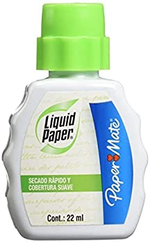 Paper Mate 5640115 Liquid Paper Fast Dry Correction Fluid 22 mL 12 Count