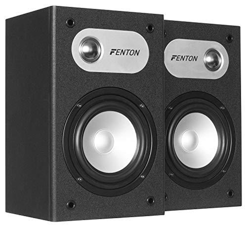 Fenton SHFB658B Bafles de estanteria 5' - Negro (Pareja)