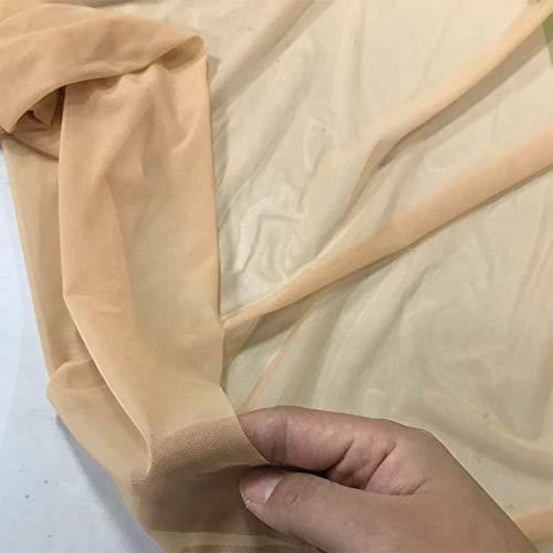 Superfine Nylon 4 Way Stretch Spandex Mesh Fabric Underwear Stockings Knit Net Nude Flesh Color high-Elastic by Yard