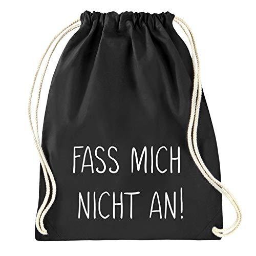 Onbeschadigde meiden – 'vat Mich nicht aan!' - Gymtas - gymtas - rugzak - jute tas - sporttas - zwart