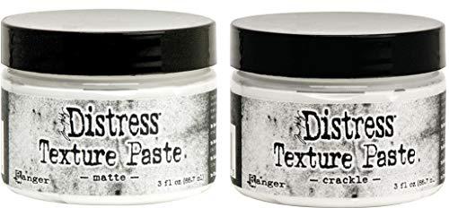 Tim Holtz Distress Texture Paste – Matt und Craqule – 2 Gläser