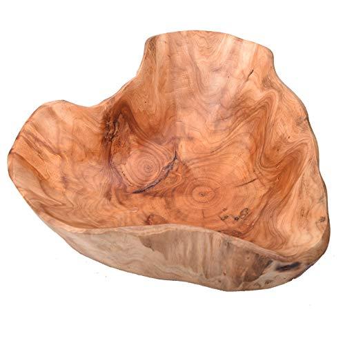 Wood bowl(12'-14'),Handmade Natural Root Carving Bowl Fruit Salad Bowl Creative Wood Bowl