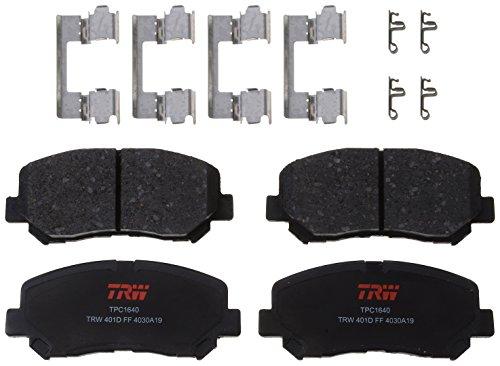 TRW Automotive TPC1640 Scheibenbremsbelagsatz, für Chrysler 200:2015-2016 und andere Anwendungen, vorne, schwarz
