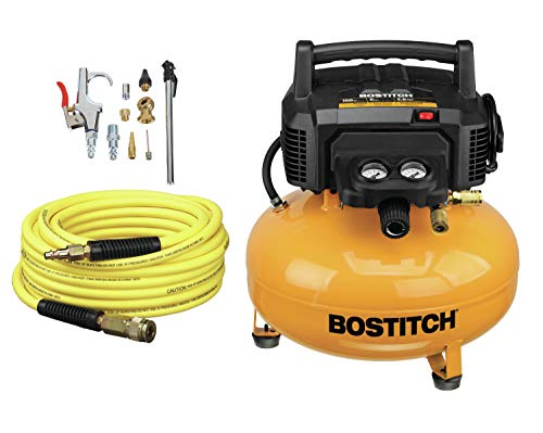 top 10 pancake air compressor BOSTITCH Air Conditioner Compressor, Oil Free, 6 Gallons, 150 PSI Inches (BTFP02012-WPK)