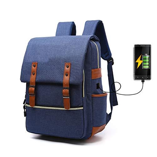 Yzlife Sac à Dos pour Hommes, Ordinateur Portable 16 Pouces de Grande capacité, imperméable, Sacoche décontractée réservé à l'interface de Chargement (Rouge Bleu pastèque Noire)