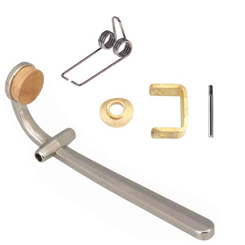 Jiayouy 6Pcs Trombone Wind Instruments Accessory Drain Valves Steel Wire Spring Valve Base Shaft Cork Pad