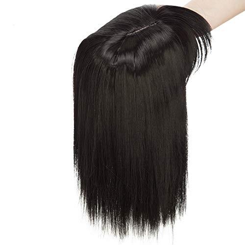 Glattes Haarklammer für dünnes Haar, für Damen, Kunsthaar, zum Anklipsen, Toupet, Haarverlängerung, Haarteil dick