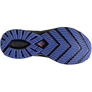 Brooks Womens Ricochet 2 Running Shoe - Black/Blue/Fiery Coral - B - 8.5