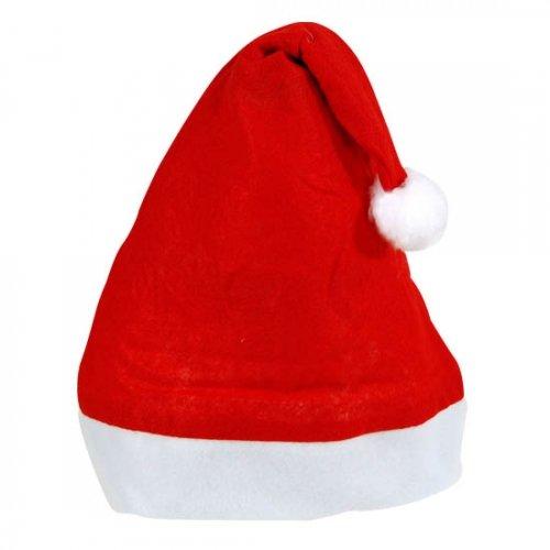 wuselwelt (8020 6 Stück Filz Weihnachtsmütze mit Bommel, Nikolausmütze, Weihnachtsmann Mütze, Nikolauskopfbedeckung, rote Filzmütze Filzkappe