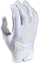 adidas ADIFAST 2.0 Football Receivers Gloves, White/White, Large