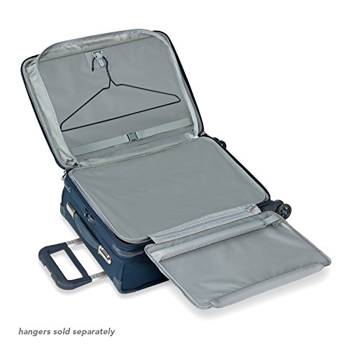 Briggs & Riley Baseline-Softside CX Expandable Carry-On Spinner Luggage, Navy, 22-Inch