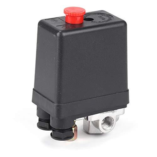 """AllRight Druckschalter Kompressor Schalter für Luftkompressor Ein/Aus-Knopf-Schalter 230V 3-12bar mit 1/4\"""" Druckluftanschluss"""
