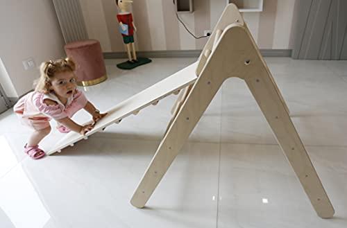 Triangolo Pikler Richiudibile Tutto Legno, Struttura rampicante per bambini piccoli, Pikler triangle