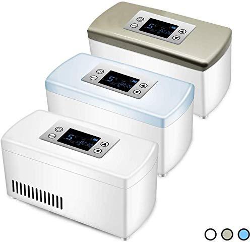 Dljyy draagbare koelbox met kleine koelkast voor het bewaren van de geneesmiddelen, houdt verse medicijnen en koibentat, geschikt voor reizen, kantoor, outdoor.