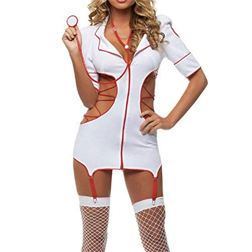 Lace Splice Chemise Babydoll Erotic Lingerie Open Bra Erotic Teddy Sexy Dress Women s Sexy Nurse Costume Halloween Costumes Stripper Play Erotic Lingerie Female Sexy Costume Underwear Doctor Uniform