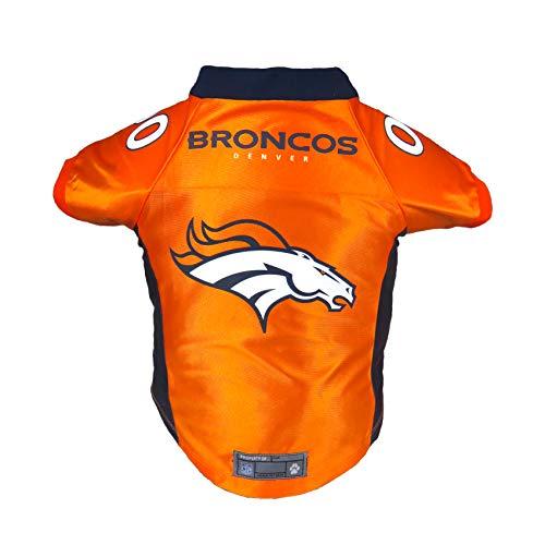 Littlearth NFL Denver Broncos Premium Pet Jersey, XL,Orange,Xtra Large