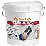 TECNO YESO LENTO de Tecno Prodist, (5 Kg) Yeso de fraguado controlado. Ideal para enlucidos, revocos, tabiquería, grietas o agujeros.