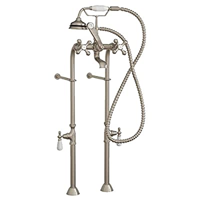 Clawfoot Tub Freestanding Classic Telephone Faucet & Hand Held Shower Combo