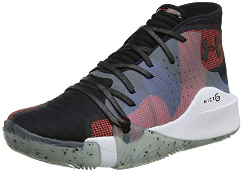 Under Armour Spawn Mid Zapatos de Baloncesto Hombre, Multicolor (Black 006), 52.5 EU (17 UK)
