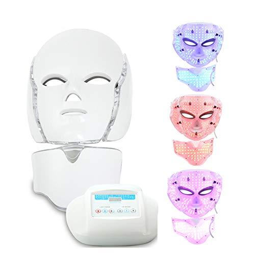 YARUMASK Maschera Terapia LED,Maschera Bellezza Professionale 3D, Fotone Strumento Ringiovanimento Trattamento A 3 Colori,per Acne Spot Rughe Sbiancamento Viso Maschera Cura della Pelle Quotidiana
