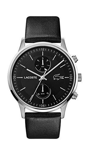 Lacoste Herren Analog Quarz Uhr mit Leder Armband 2011064