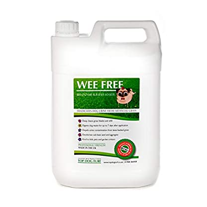 WEE FREE 5 Ltr Artificial Grass Cleaner and Pet Odour Eliminator for Dog Urine - Disinfectant, Neutraliser and Deodoriser for Dog Wee on Astro Turf and Fake Lawns. Safe for Dogs and Animals. 1