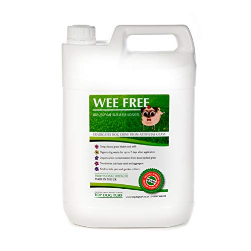 WEE FREE 5 Ltr Artificial Grass Cleaner and Pet Odour Eliminator for Dog Urine - Disinfectant,...