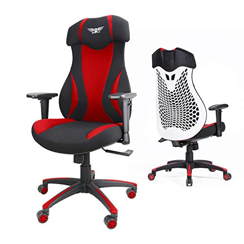 Acethrone Ergonomic Gaming Chairs with Adjustable Headrest and Armrest, Comfort Lumbar Support, for Office/Game/Learn (Red)