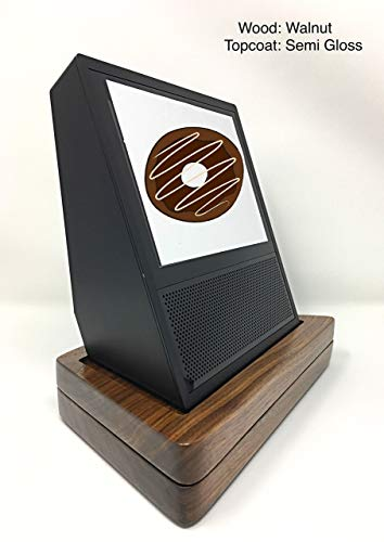 Amazon Echo Show Stand to Protect with 360 Degree Lazy Susan 100% Walnut wood