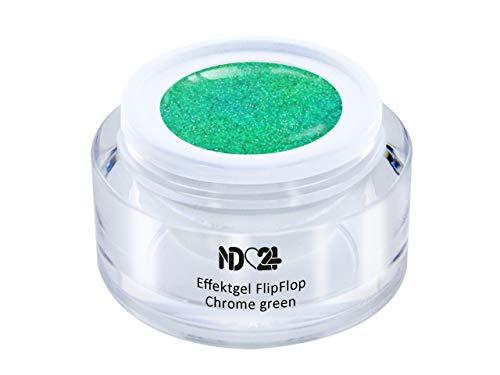 Uv Led Effekt-Gel Flip Flop Chrome Green - Grün - Studio Qualität - Made In Germany - 5ml